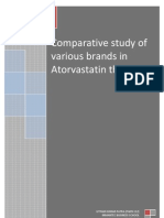 Comparative study of various brands in Atorvastatin therapy