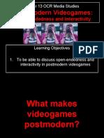 Lesson 5 - PoMo Videogame O and I