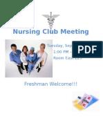 Nursing Club Meeting