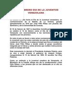 12 de Febrero Dia de La Juventud Venezolana