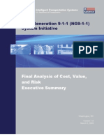 "US Department of Transportation ""Next Generation 911""  Final Cost Value Risk Analysis Executive Summary (2009)"
