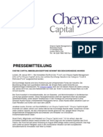 Cheyne Capital Immobilien-Debtfond Gewinnt Bei Den Eurohedge Awards