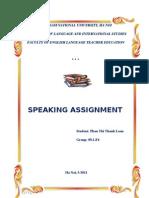 Speaking Assignment