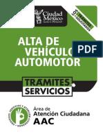 AltaVehiculoAuto en DF