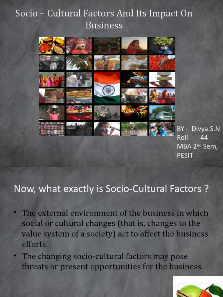 impact of socio cultural factors on business