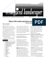 Summer 2008 The Ecological Landscaper Newsletter