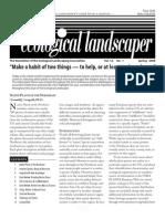 Spring 2008 The Ecological Landscaper Newsletter