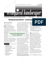 Winter 2009 The Ecological Landscaper Newsletter