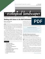 Fall 2009 The Ecological Landscaper Newsletter