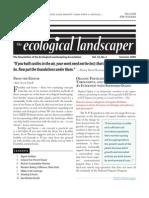 Summer 2009 The Ecological Landscaper Newsletter