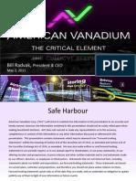 Vanadium the Critical Element for Tomorrows Renewable Energy Source