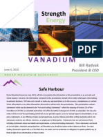 The Strength and Energy of Vanadium