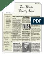 Newsletter Volume 3 Issue 20