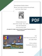 """Lucrare de cercetare """"Stereotipurile în relaţiile europene şi perspectiva integrării Republicii Moldova în Uniunea Europeană"""""""