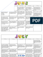 June-July 3rd Grade Math Calendars