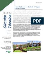 Recomendações para o controle de pragas em hortas urbanas (2009)