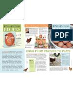 The Fresh Egg Cookbook Brochure