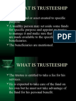 final trusteeship ppt