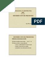 Distribucion de Presiones 2007