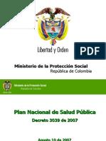 1.PLAN NACIONAL DE SALUD PÚBLICA