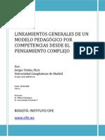 Lineamientos Generales Del Modelo Pedagogico de Las Competencias