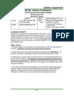 HUM 206-91 Syllabus Supplement