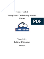 Top Twelve College Football Summer Strength And Conditioning Program