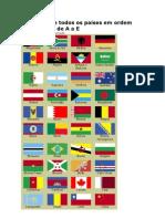Bandeira de todos os países em ordem alfabética