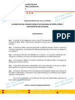 PRONUNCIAMIENTO 001-D-CCNNNAE