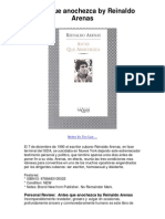 Antes Que Anochezca by Reinaldo Arenas - 5 Star Book Review