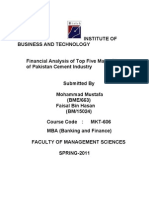 Cement Industry of Pakistan ; An Insight
