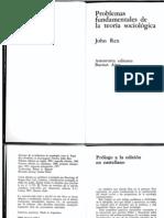 John Rex Problemas Fundamentales de La Teoria Sociológica