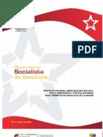 Observatorio Socialista, Nº 11, enero 2009
