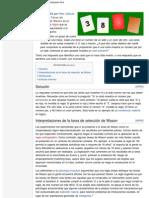 Tareas de selección de Wason - Wikipedia, la enciclopedia libre