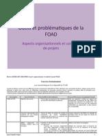 Aspects organisationnels et conduite de projets