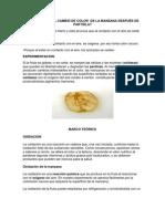 A QUE SE DEBE EL CAMBIO DE COLOR  DE LA MANZANA DESPUÉS DE PARTIRLA imprimir