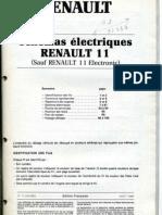 schema elecrikal Renault 11