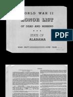 WWII Alabama War Casualties