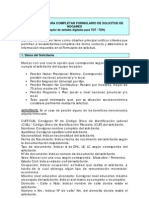 IINSTRUCTIVO PARA COMPLETAR FORMULARIO DE SOLICITUD DE HOGARES  (Receptor de señales digitales para TDT / TDH)