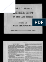 WWII New Hampshire War Casualties