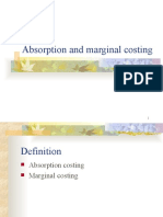 Absorption and Marginal Costing Today
