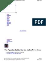 The Agendas Behind the Bin Laden News Event