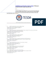 TESDA Caregiver Training Accredited Schools