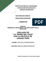 ANALOGÍA DE JURASIC PARK