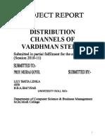 Distribution Channels of Vardhman Steels