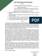 Uniform Labour Data -Kseb- Board Order