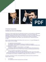 Mahmood Ahmadi-Najad vs George Bush
