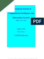 IJCIIS January 2011 Vol. 2 No. 1