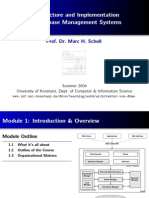 Architecture of DBMS