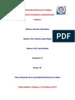 Resumen de La Ley Federal Del Derecho de Autor